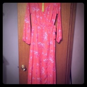 Gianni bini floral long maxi wrap dress nwt sz xs
